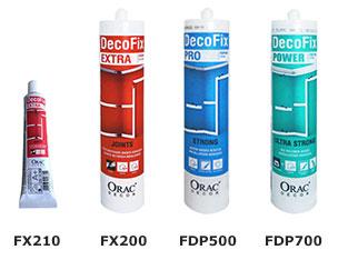 FX200, FX210, FDP500 and FDP700 Orac Adhesives